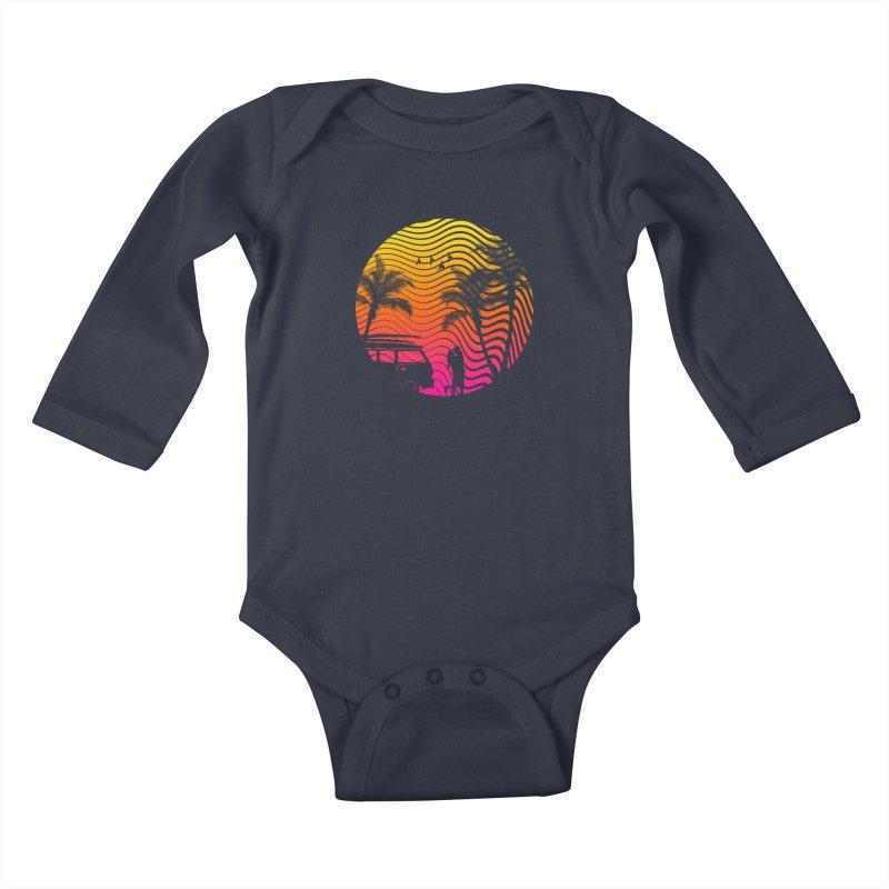 Summer Love Kids Baby Longsleeve Bodysuit by mateusquandt's Artist Shop