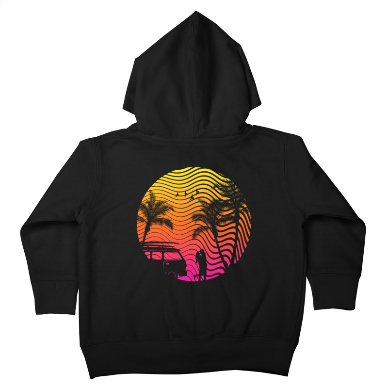 Summer Love Kids Toddler Zip-Up Hoody by mateusquandt's Artist Shop