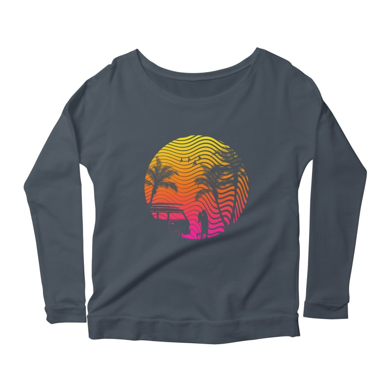 Summer Love Women's Longsleeve Scoopneck  by mateusquandt's Artist Shop
