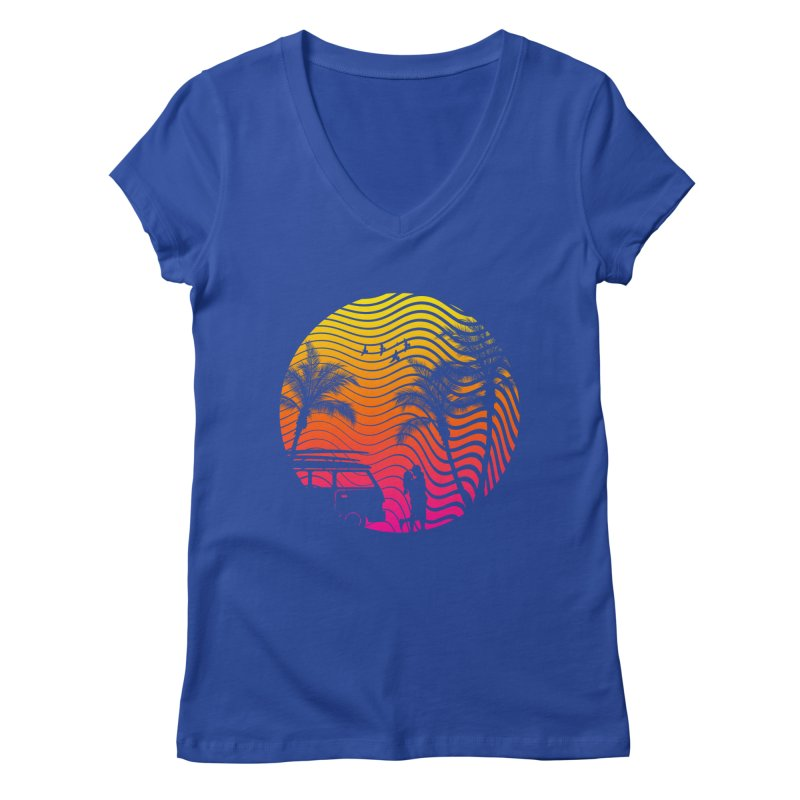 Summer Love Women's V-Neck by mateusquandt's Artist Shop