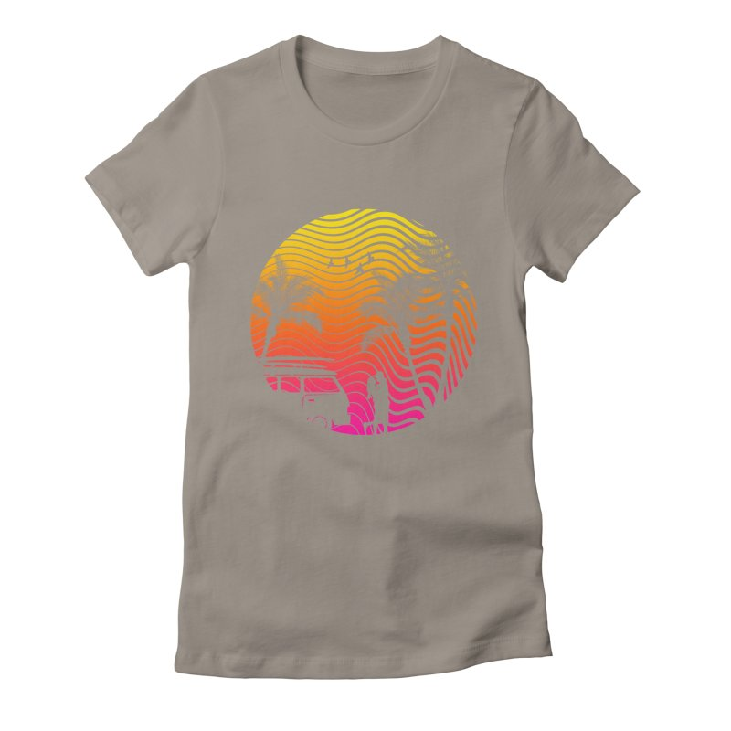 Summer Love Women's Fitted T-Shirt by mateusquandt's Artist Shop