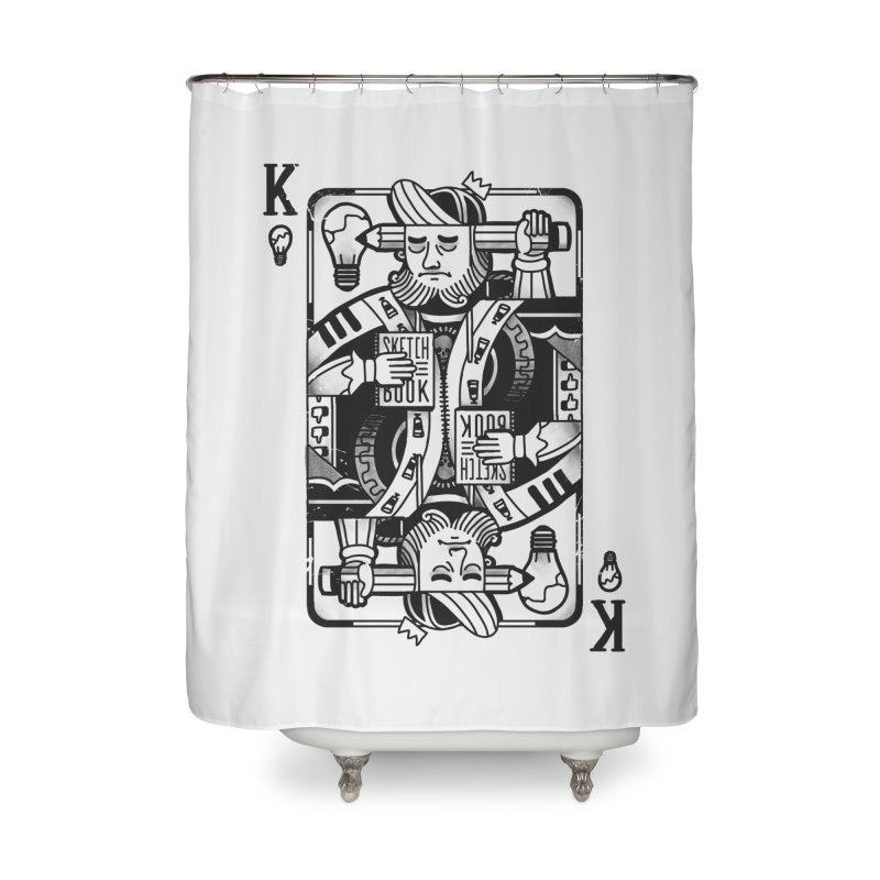 Artists Block Home Shower Curtain by Mathijs Vissers