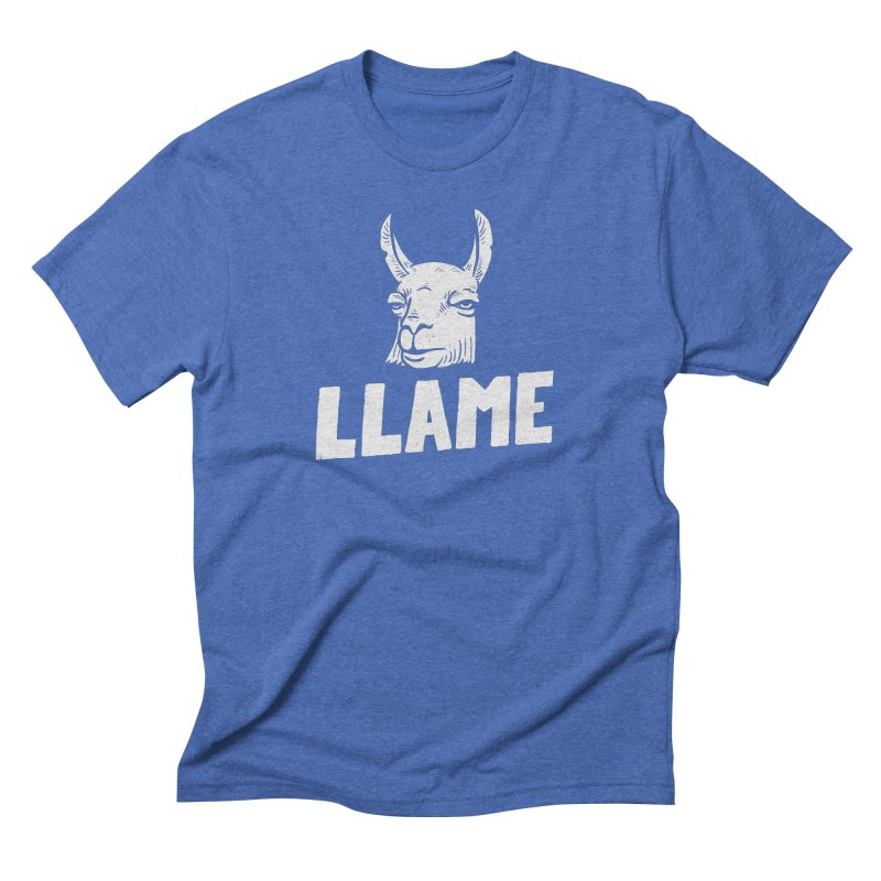 Llame Men's Triblend T-shirt by Mathijs Vissers