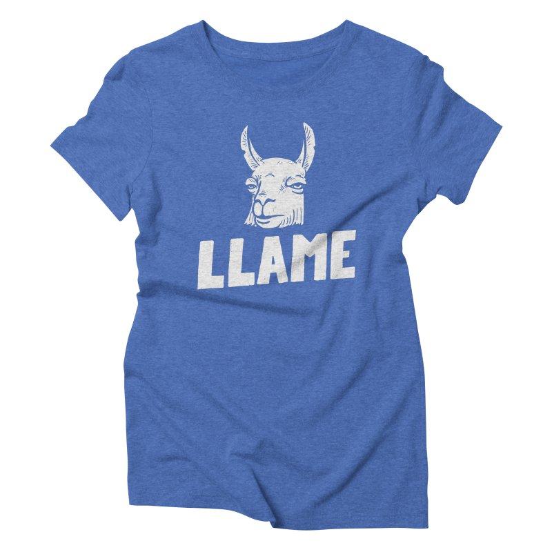 Llame Women's Triblend T-shirt by Mathijs Vissers