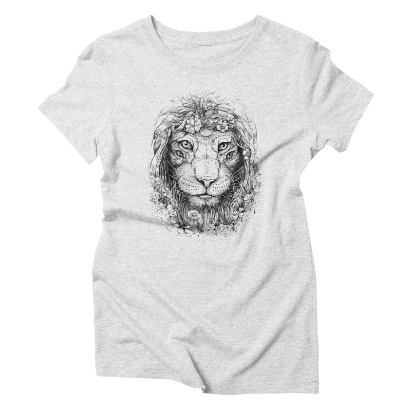 King of Nature Women's Triblend T-shirt by Mathijs Vissers