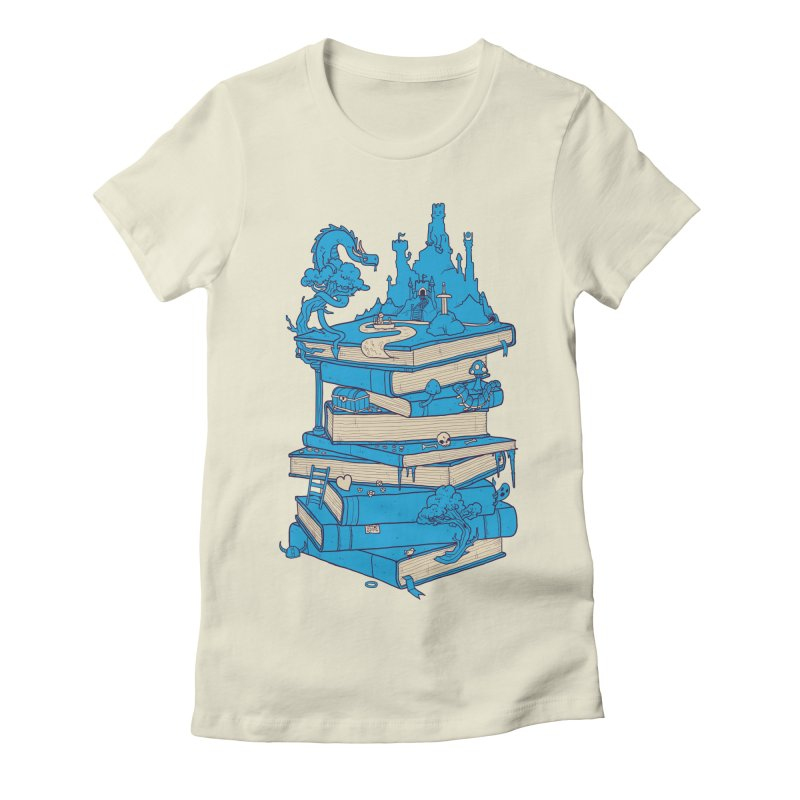 The Magic of Books Women's Fitted T-Shirt by Mathijs Vissers
