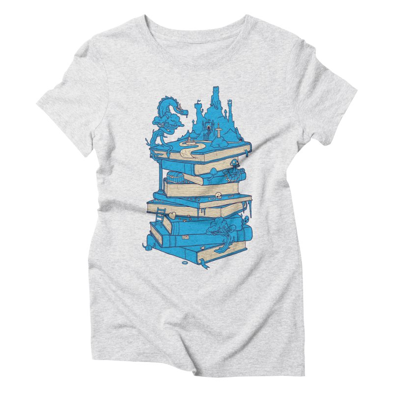The Magic of Books Women's Triblend T-shirt by Mathijs Vissers