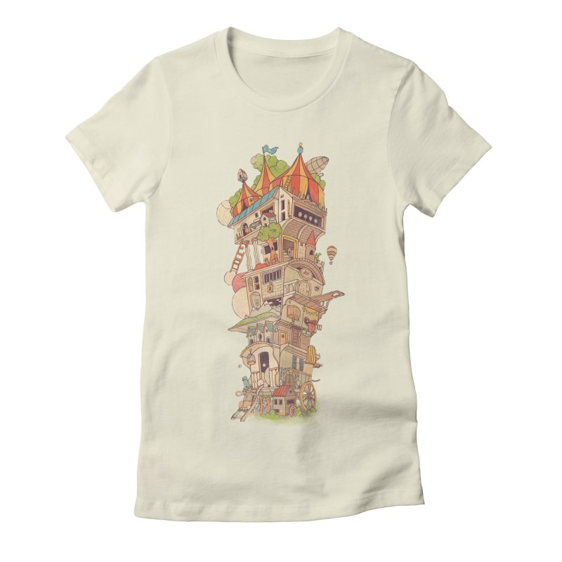 Traveling Circus Women's Fitted T-Shirt by Mathijs Vissers