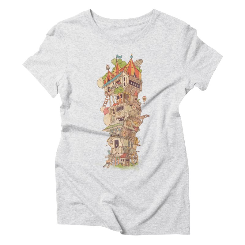 Traveling Circus Women's Triblend T-Shirt by Mathijs Vissers