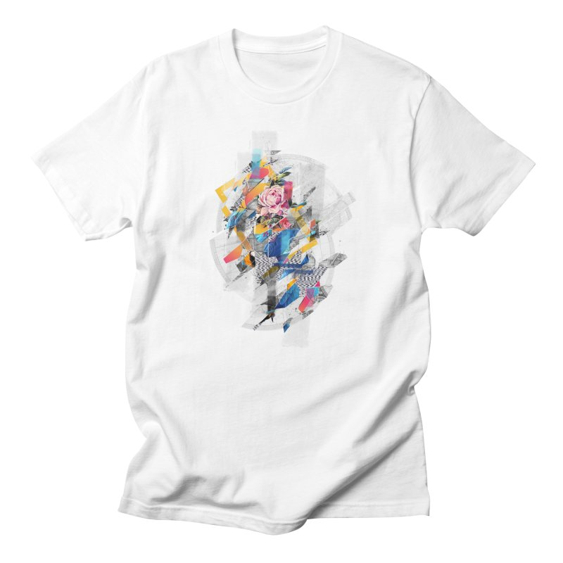 Distorted still-life of the bird and the flower Men's T-shirt by Mathijs Vissers