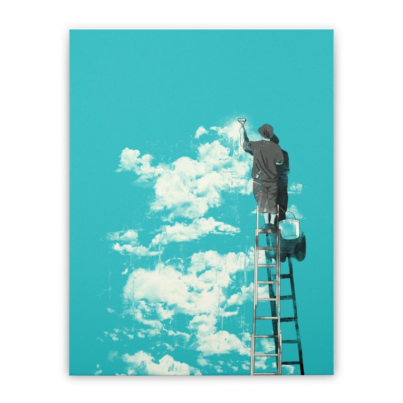 The optimist Home Stretched Canvas by mathiole