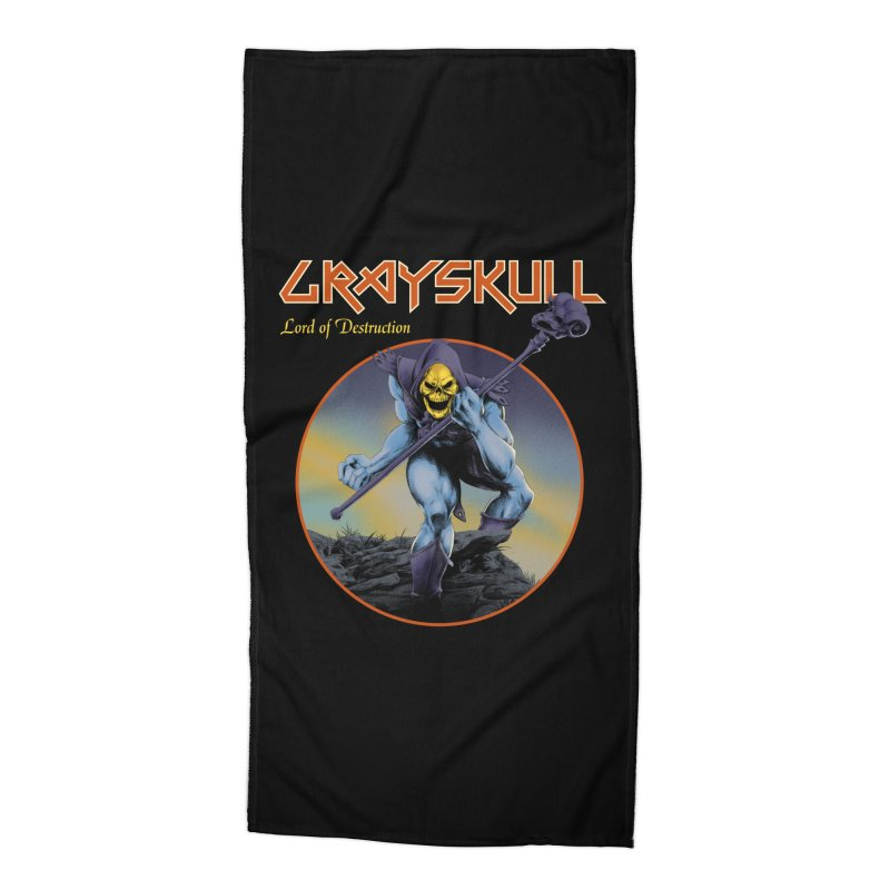 Skeletor rocks Accessories Beach Towel by mathiole