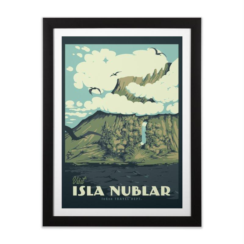 visit isla nublar Home Framed Fine Art Print by mathiole