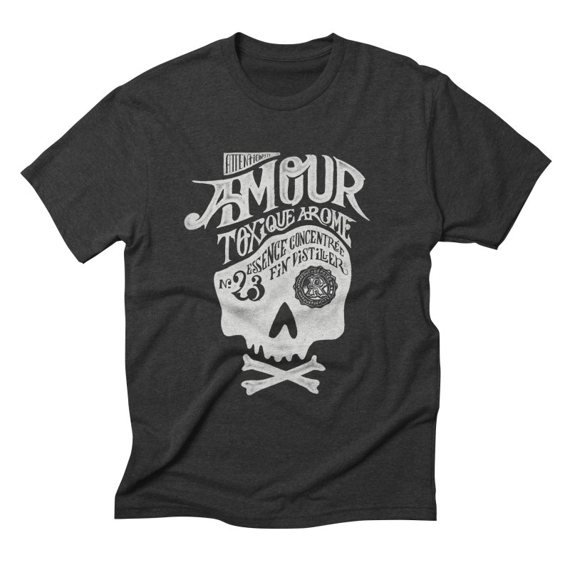 Amour Men's Triblend T-shirt by mathiole