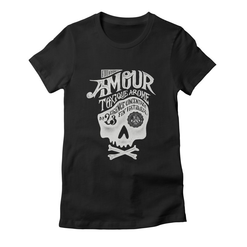 Amour Women's Fitted T-Shirt by mathiole