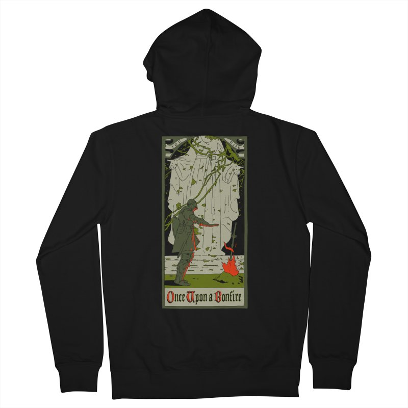 Once upon a bonfire Men's Zip-Up Hoody by mathiole