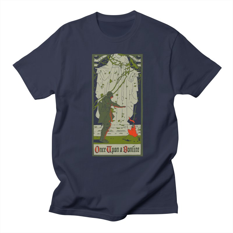 Once upon a bonfire Men's T-shirt by mathiole