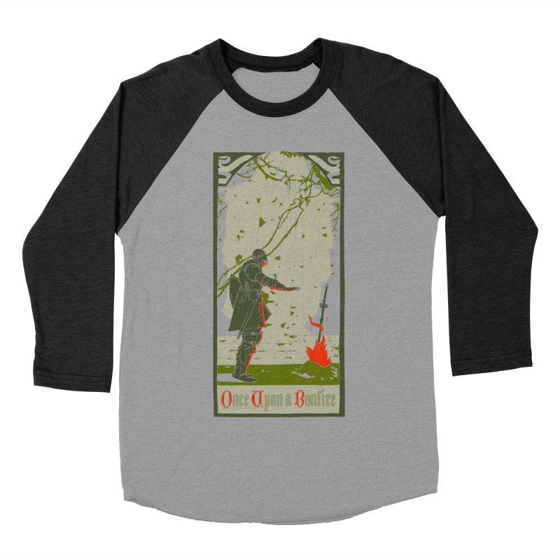 Once upon a bonfire Men's Baseball Triblend T-Shirt by mathiole