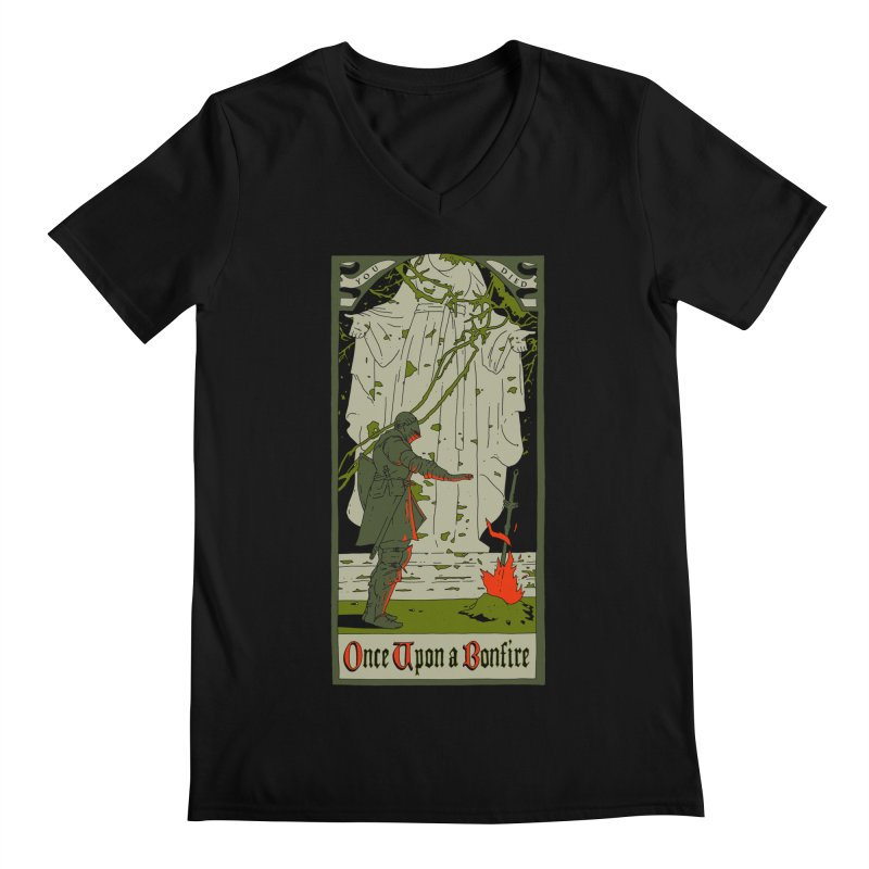 Once upon a bonfire Men's V-Neck by mathiole