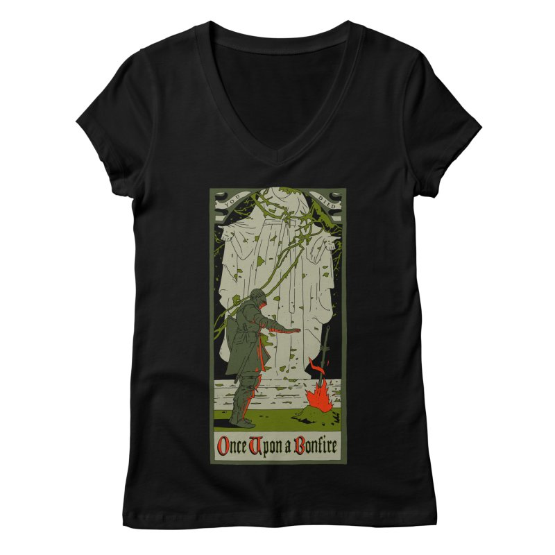 Once upon a bonfire Women's V-Neck by mathiole