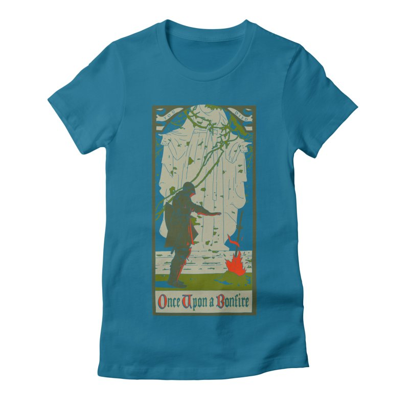 Once upon a bonfire Women's Fitted T-Shirt by mathiole