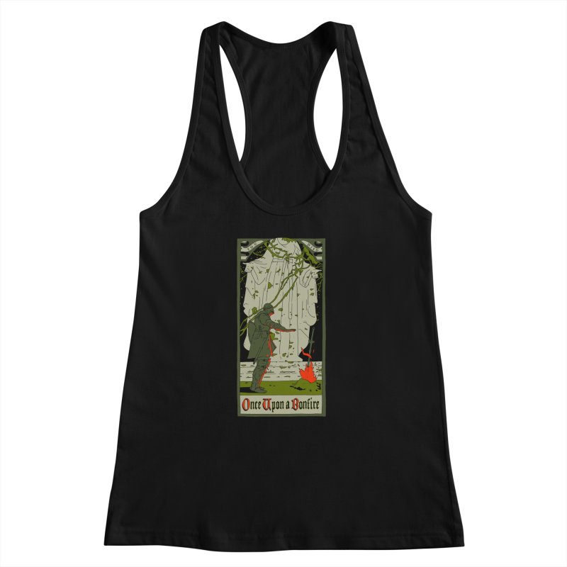 Once upon a bonfire Women's Racerback Tank by mathiole