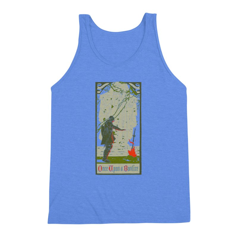 Once upon a bonfire Men's Triblend Tank by mathiole