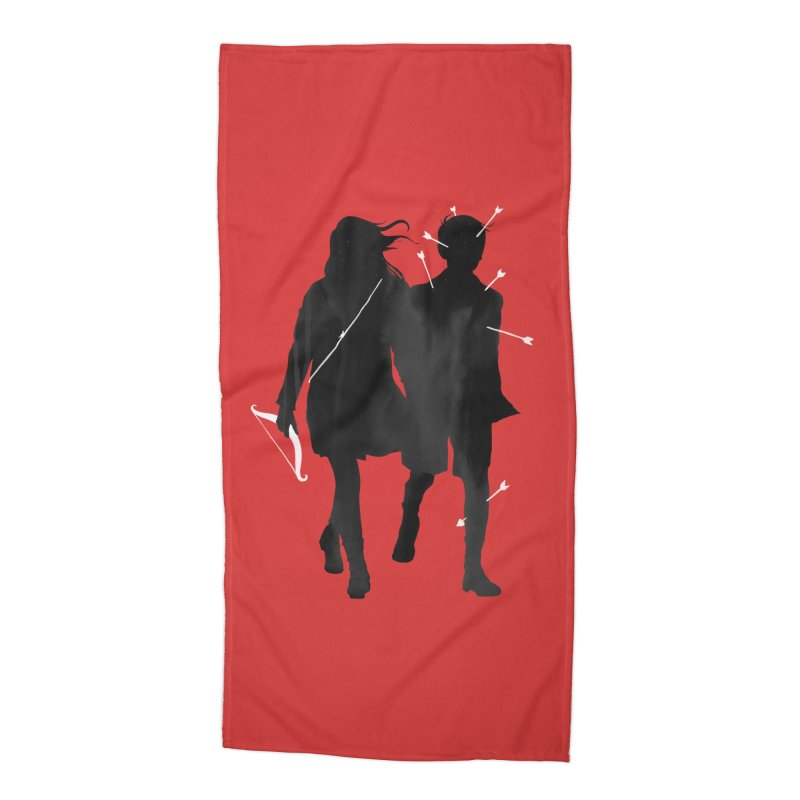 Dangerous Games Accessories Beach Towel by mathiole