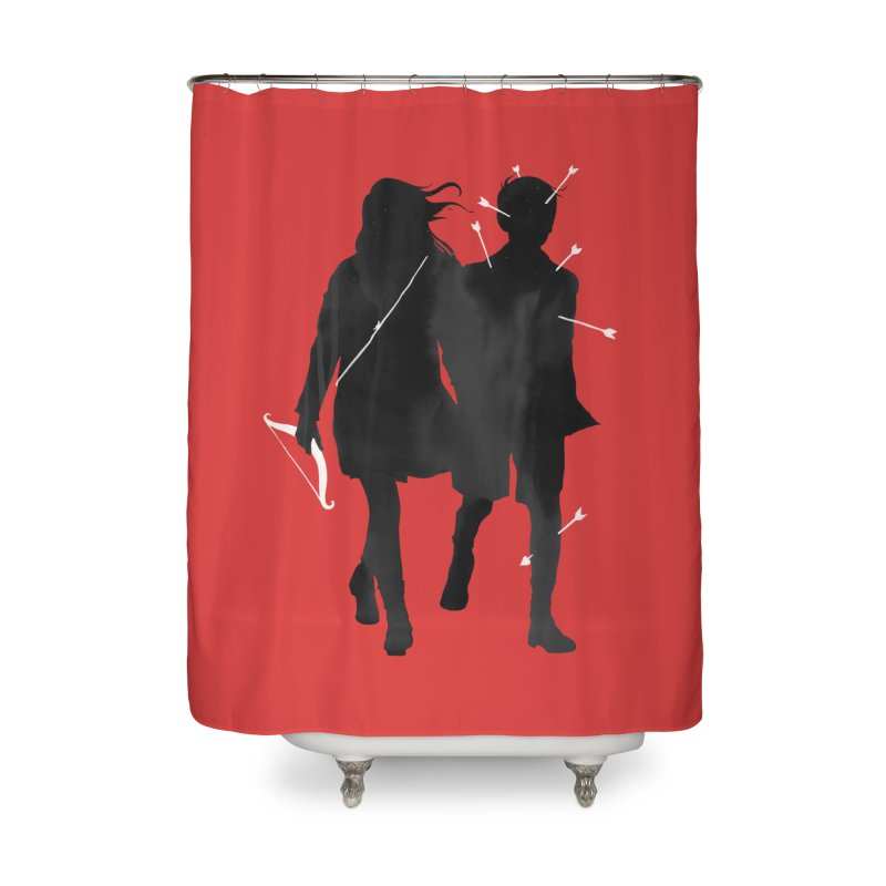 Dangerous Games Home Shower Curtain by mathiole