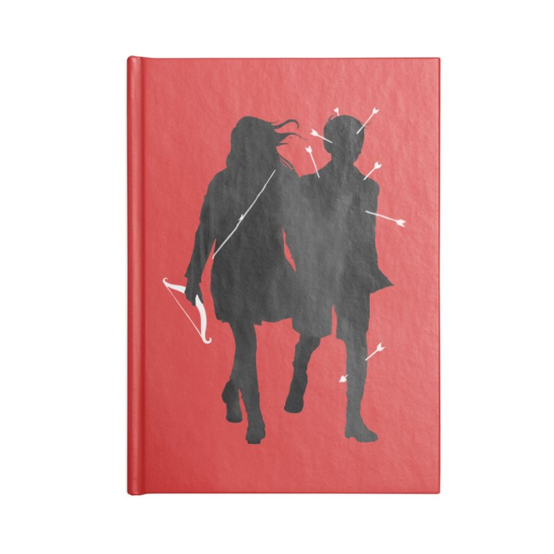 Dangerous Games Accessories Lined Journal Notebook by mathiole