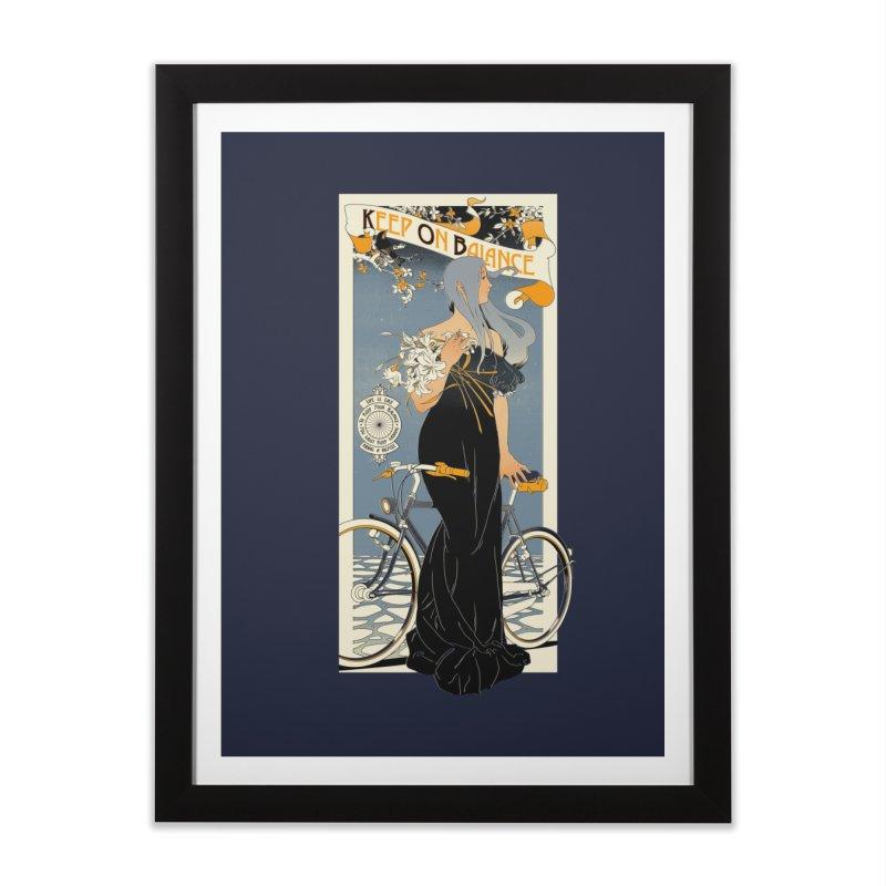 Keep on Balance Home Framed Fine Art Print by mathiole