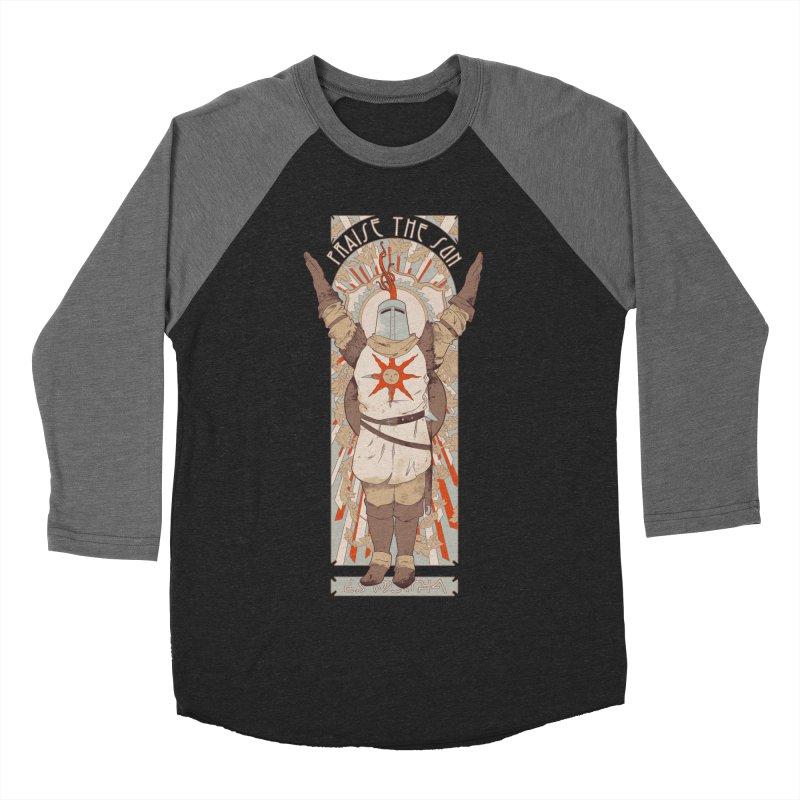 Praise the Sun Men's Baseball Triblend T-Shirt by mathiole