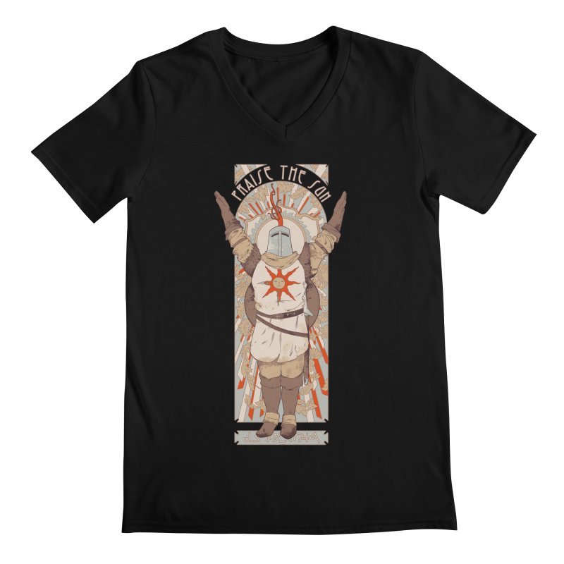 Praise the Sun Men's V-Neck by mathiole