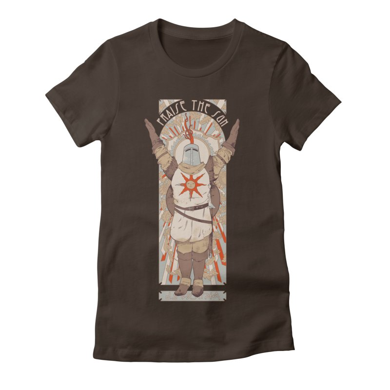 Praise the Sun Women's Fitted T-Shirt by mathiole