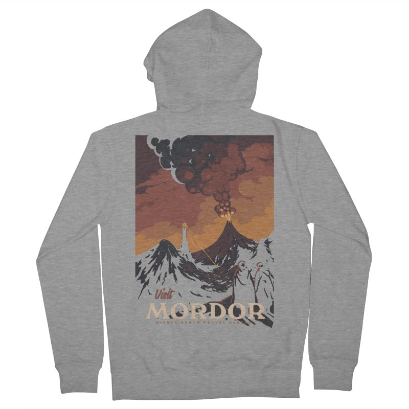 Visit Mordor Men's Zip-Up Hoody by mathiole