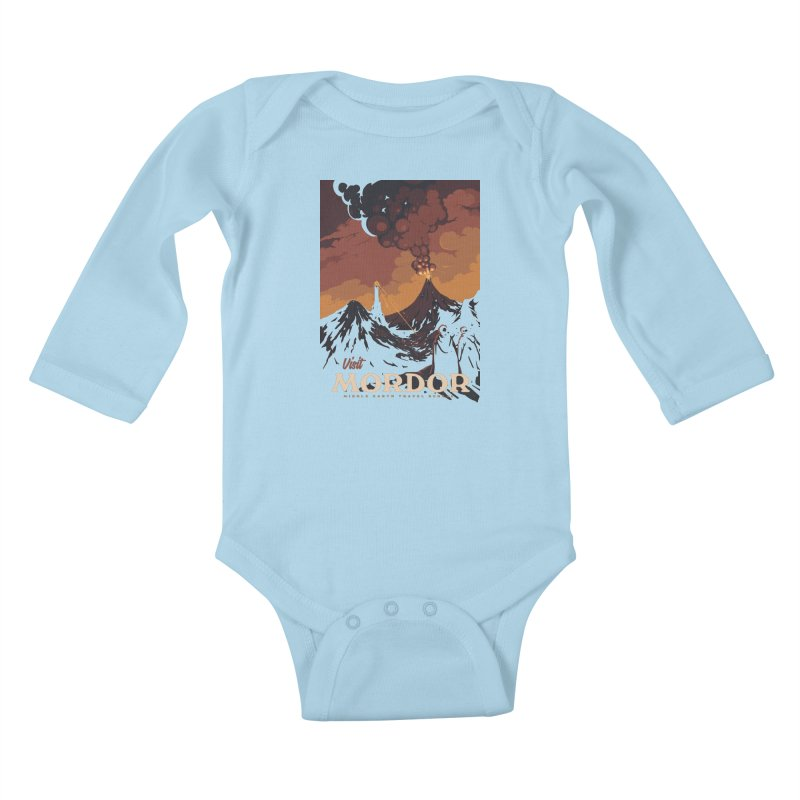 Visit Mordor Kids Baby Longsleeve Bodysuit by mathiole