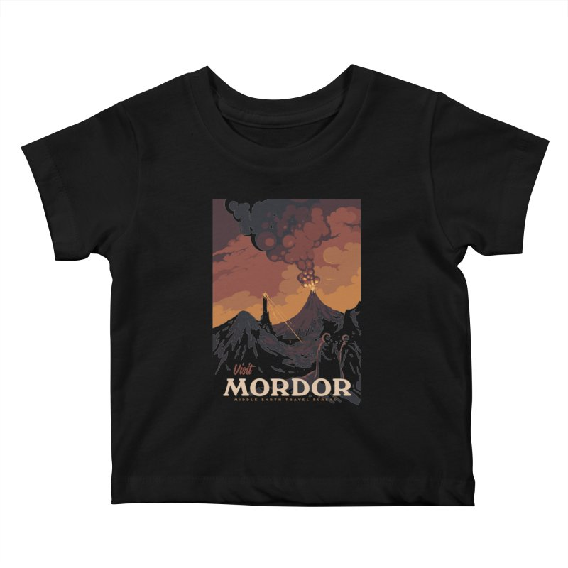 Visit Mordor Kids Baby T-Shirt by mathiole