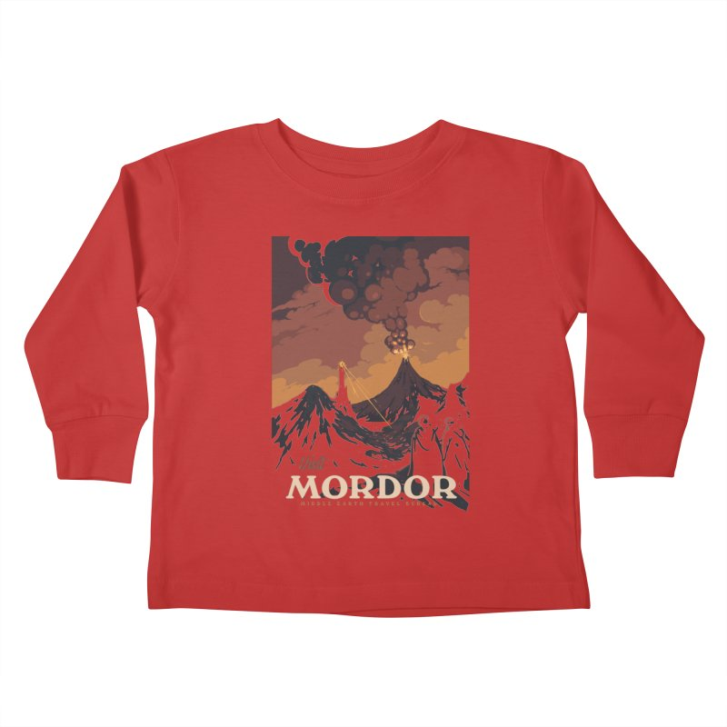 Visit Mordor Kids Toddler Longsleeve T-Shirt by mathiole