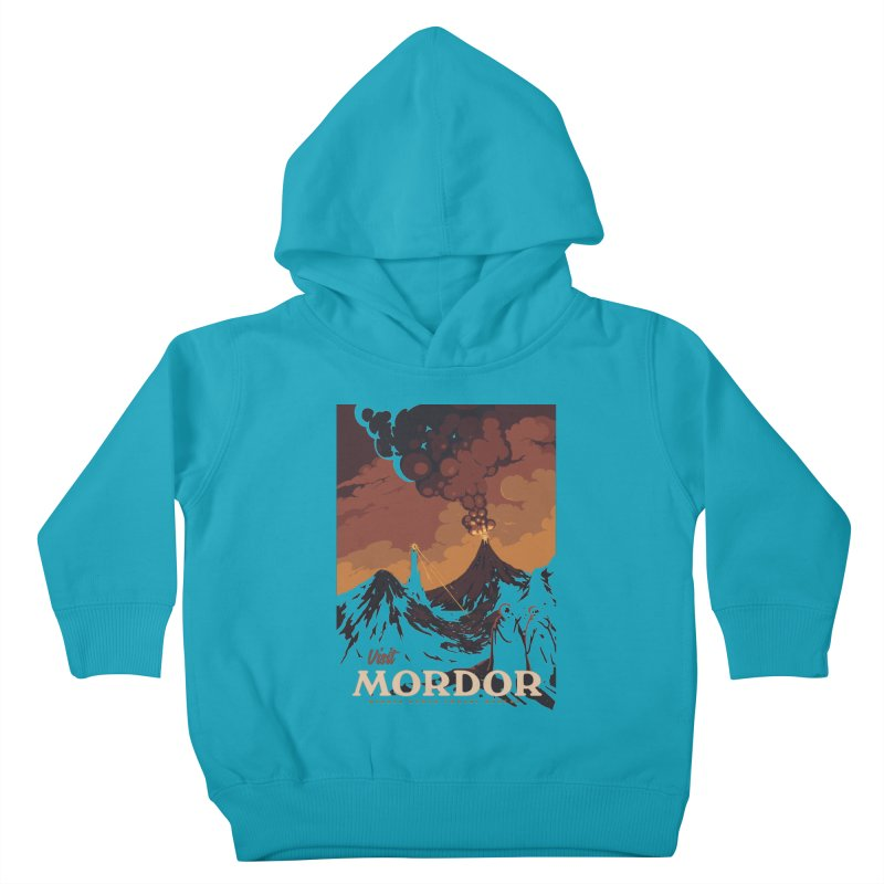 Visit Mordor Kids Toddler Pullover Hoody by mathiole