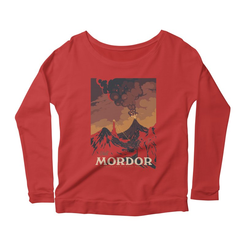 Visit Mordor Women's Scoop Neck Longsleeve T-Shirt by mathiole