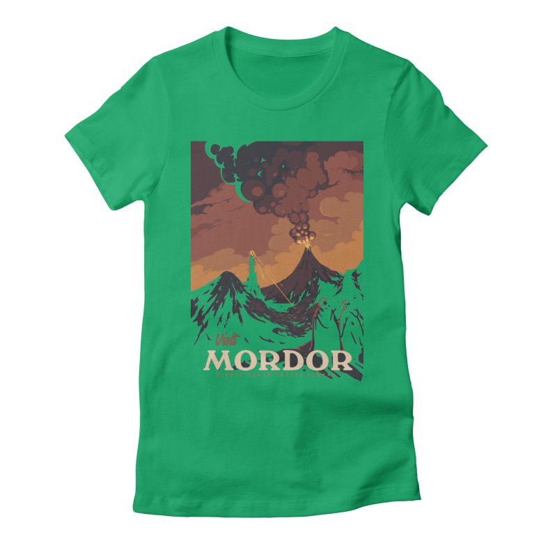 Visit Mordor Women's Fitted T-Shirt by mathiole
