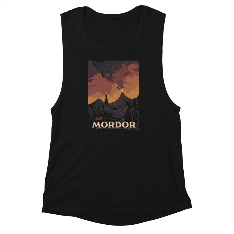 Visit Mordor Women's Muscle Tank by mathiole