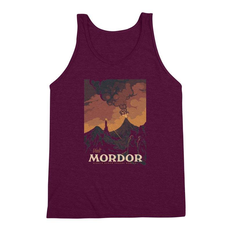 Visit Mordor Men's Triblend Tank by mathiole