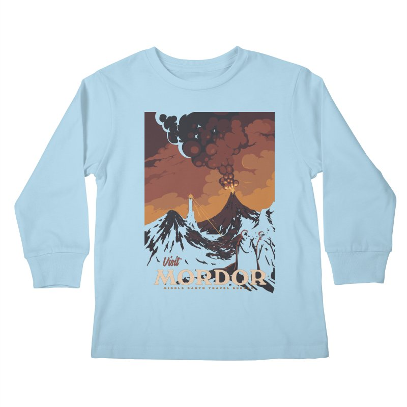 Visit Mordor Kids Longsleeve T-Shirt by mathiole