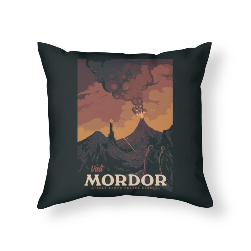 Visit Mordor Home Throw Pillow by mathiole