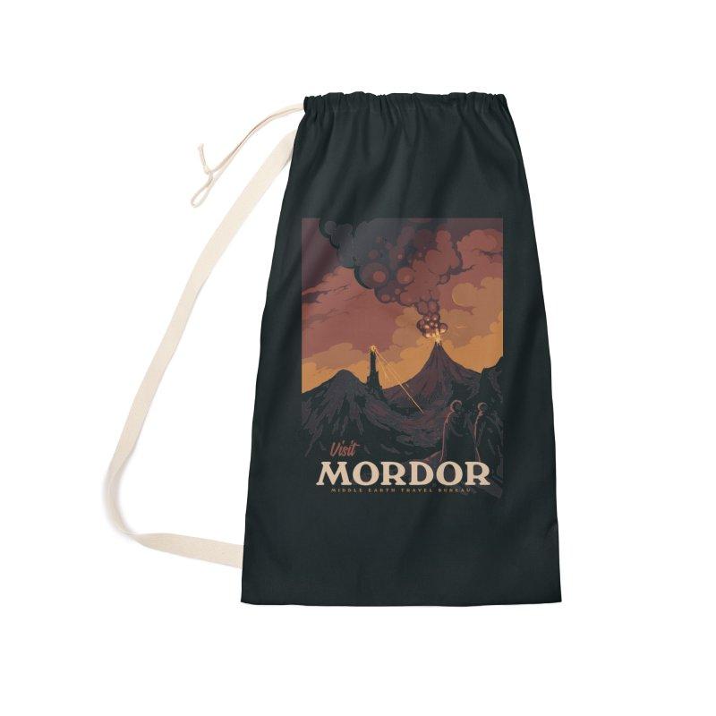 Visit Mordor Accessories Laundry Bag Bag by mathiole