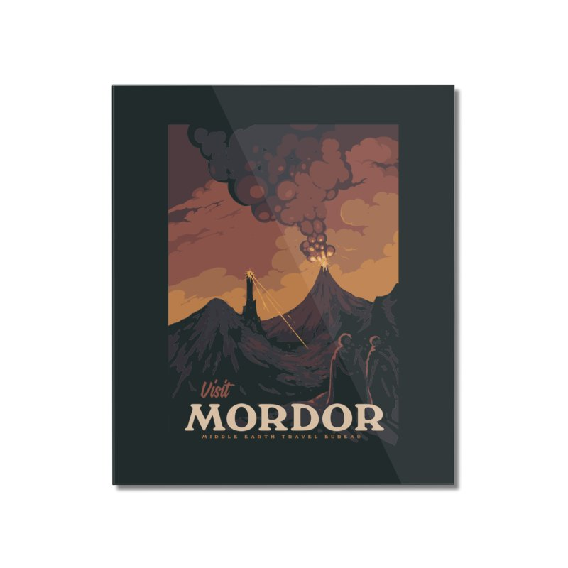 Visit Mordor Home Mounted Acrylic Print by mathiole