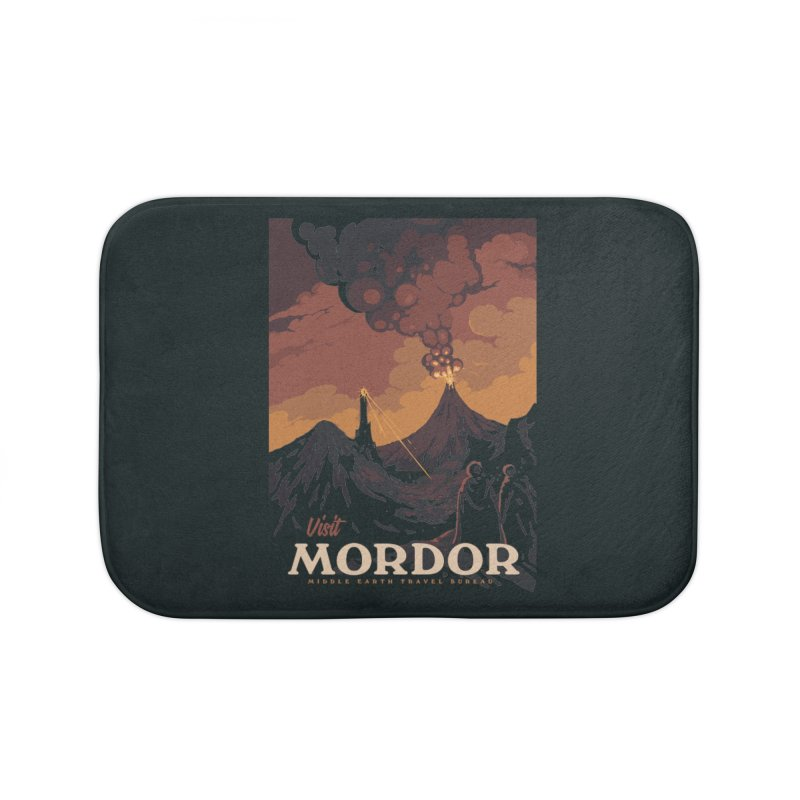 Visit Mordor Home Bath Mat by mathiole