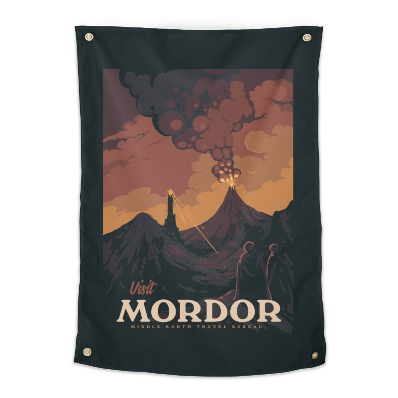 Visit Mordor Home Tapestry by mathiole