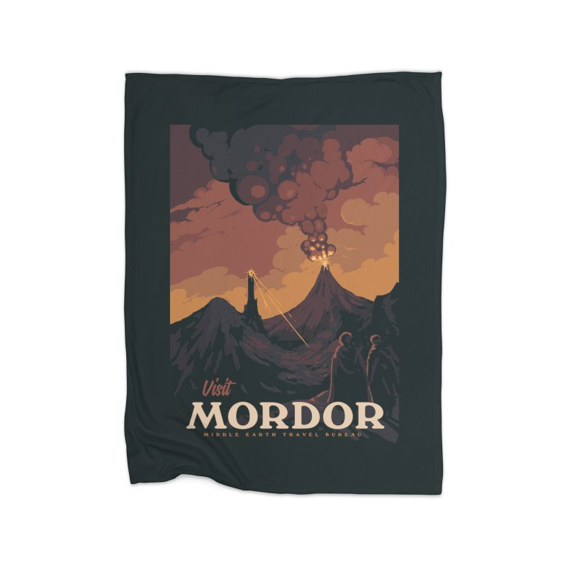 Visit Mordor Home Blanket by mathiole